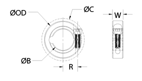 Clamp Collar Cad Drawing