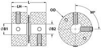 MDSSK25-10-8-A Line Drawing